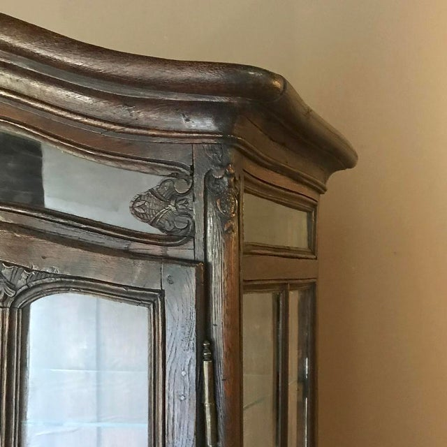 Brown 19th Century Country French Vitrine ~ Bookcase For Sale - Image 8 of 13