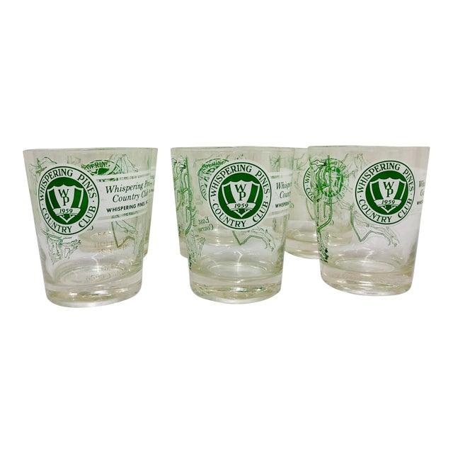 Vintage Golf Course Cocktail Glasses For Sale