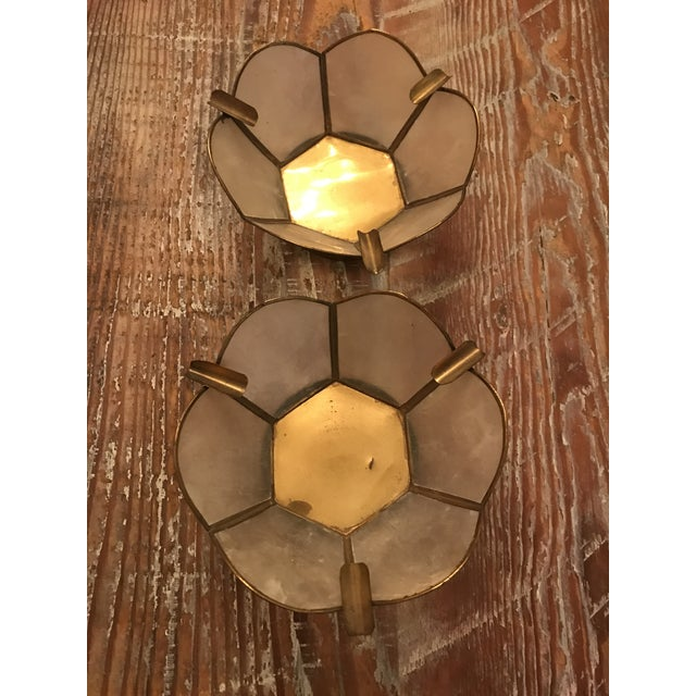 Vintage Lotus Brass Candle Holders - A Pair - Image 8 of 9