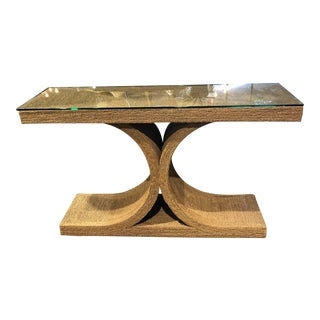 1980s Contemporary Tommy Bahama Style Rope and Rattan Console Table