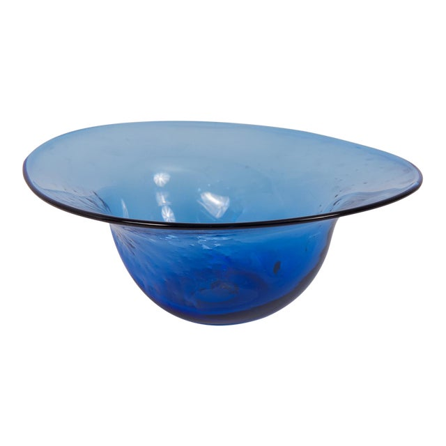 Dimpled Blenko Glass Bowl - Image 1 of 9