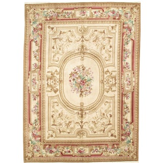 """Pasargad N Y Sino Savonnerie Style Rug - 8'7"""" X 11'9"""" For Sale"""