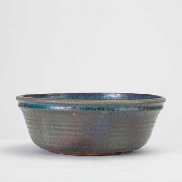 Blue Studio Pottery Serving Bowl For Sale - Image 12 of 12