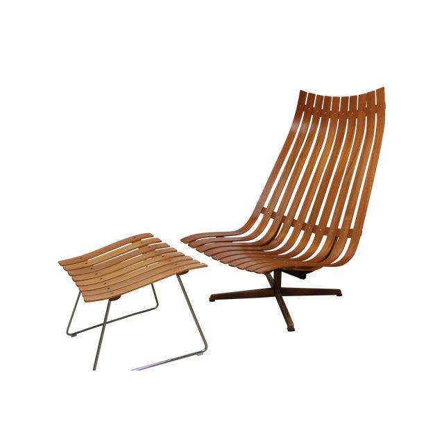 Hans Brattrud Scandia Lounge Chair & Ottoman For Sale
