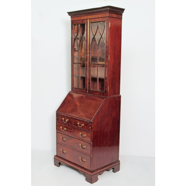 Period George III Secretary Bookcase of Mahogany For Sale - Image 4 of 11