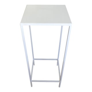 Room & Board White Steel End Table