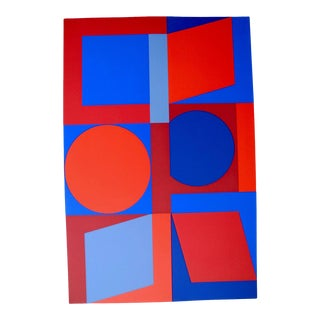 Mid 20th Century Op Art Screen Print by Victor Vasarely For Sale
