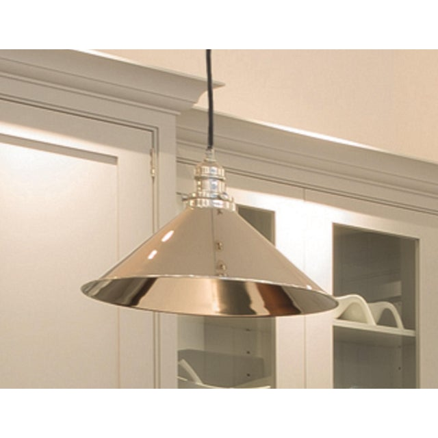 Provence Rise & Fall Polished Nickel Pendant For Sale - Image 4 of 6
