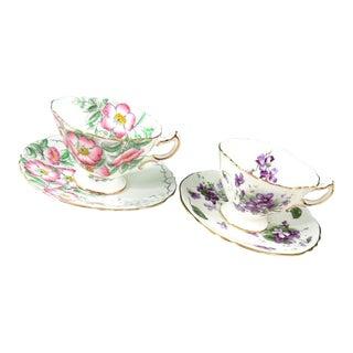 Vintage Hammersley Bone China Tea Cups - Set of 2