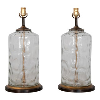 1950s Hand Blown Lamps - a Pair For Sale