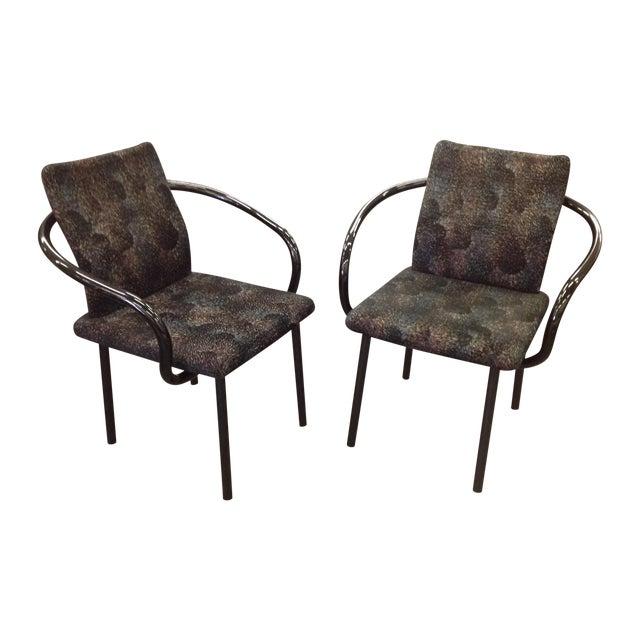 Knoll Ettore Sottsass Mandarin Chairs - A Pair - Image 1 of 9