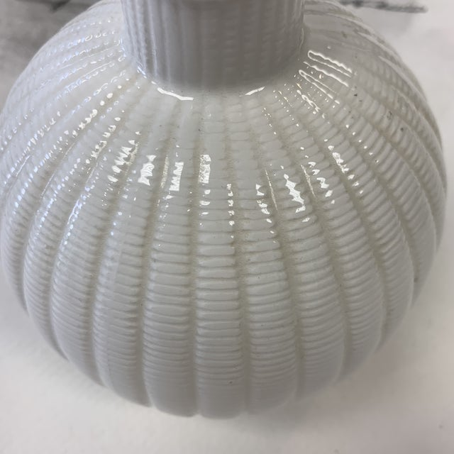 White Tiffany's & Co Vintage Vase For Sale - Image 8 of 13