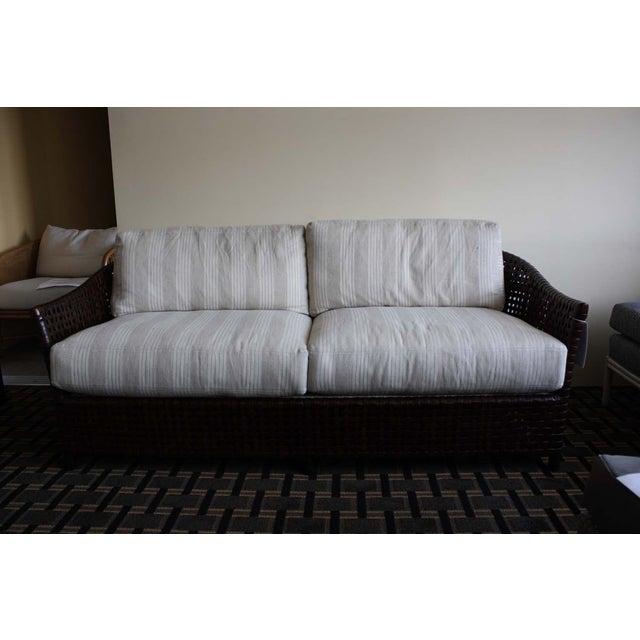 Contemporary McGuire Antalya Sofa Dark Tobacco Baker Fabric For Sale - Image 3 of 7