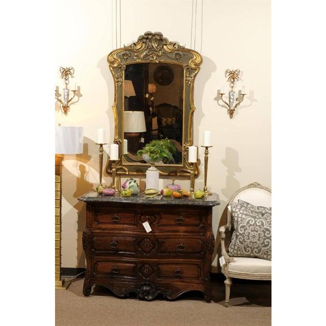 Art Nouveau Art Nouveau Style Gold & Taupe Mirror For Sale - Image 3 of 11