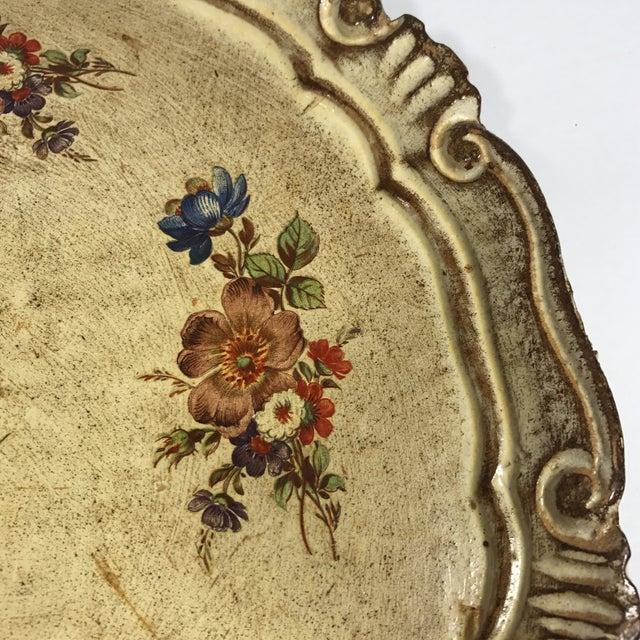 Vintage Italian Venetian Floral Tray - Image 4 of 9