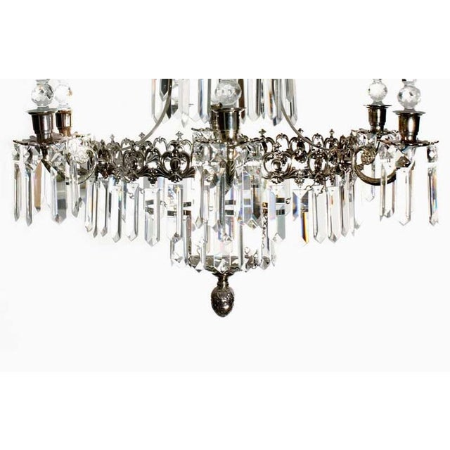 Not Yet Made - Made To Order Swedish Style Chrome Bathroom Chandelier For Sale - Image 5 of 7
