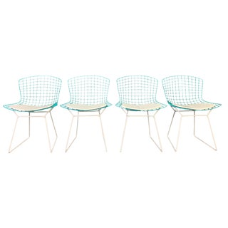 Vintage Mid Century Modern Harry Bertoia for Knoll Chairs- Set of 4 For Sale
