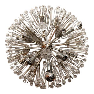 Nickel Plated Austrian Snowflake Chandelier