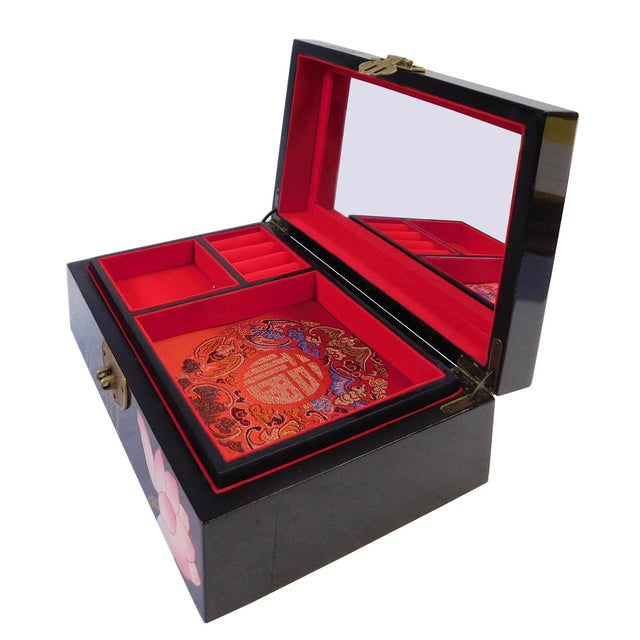 Chinese Oriental Lacquered Jewelry Box - Image 3 of 7