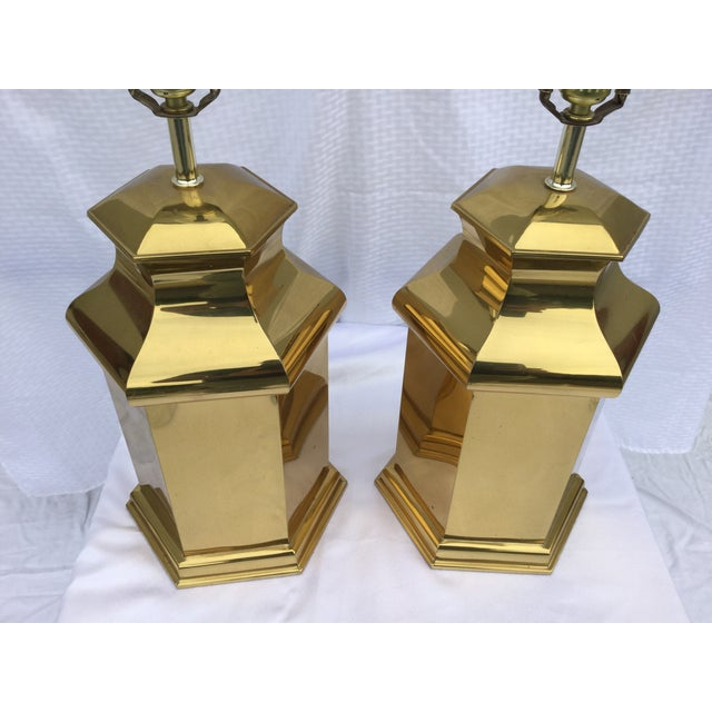 Vintage Modern Brass Table Lamps For Sale - Image 4 of 11