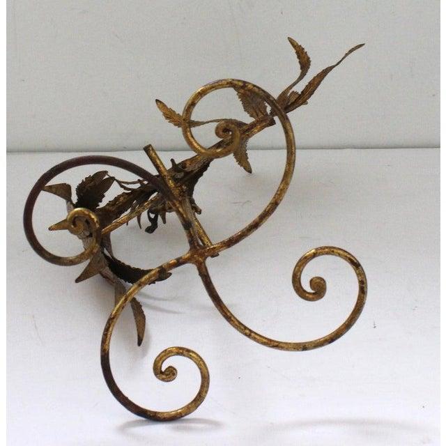 Mid-Century Modern Plumed Bird Figure in Florentine Gold Leaf For Sale - Image 11 of 13