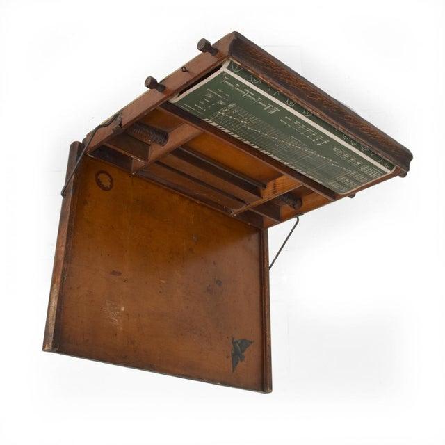 Antique Chautauqua Industrial Art Desk Lewis E. Myers & Company For Sale - Image 11 of 11