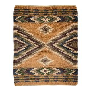Vintage Indian Tribal Flatweave Kilim Throw Rug For Sale