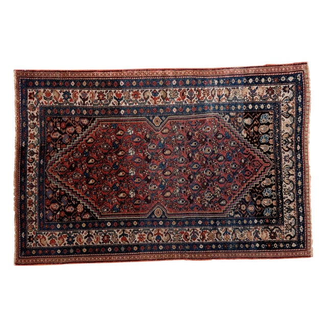 "Vintage Persian Malayer Rug - 3'8"" X 5'6"" For Sale"