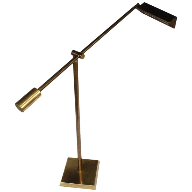 Vintage Frederick Cooper Brass Floor Lamp For Sale