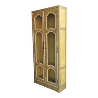 20th Century French Provincial Illuminated Display Cabinet For Sale