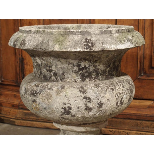 Pair of Antique Carved Stone Garden Vases From Bordeaux France, 19th Century For Sale In Dallas - Image 6 of 12