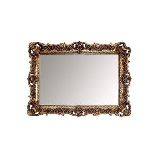 20th Century Renaissance Cast Resin Gilded Mirror