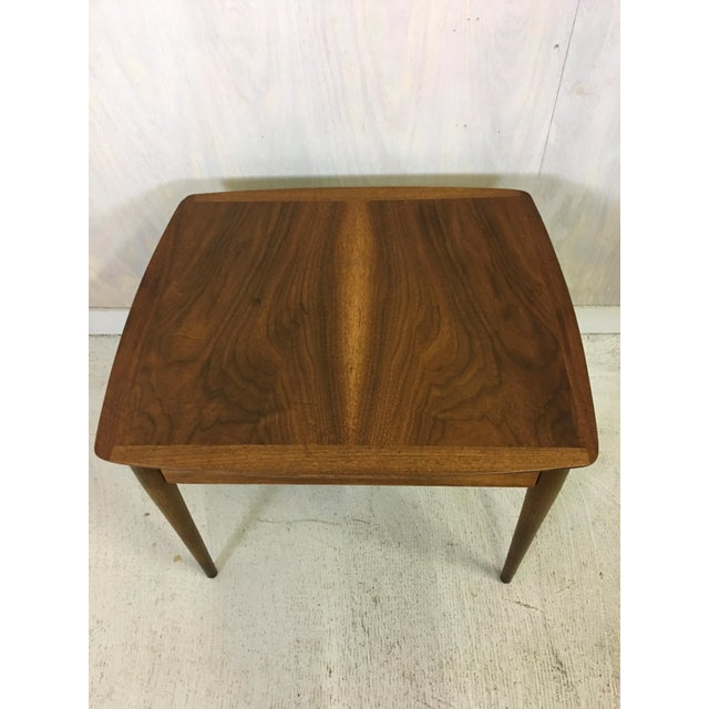 Lane Furniture Mid Century Lane Walnut Accent Table For Sale - Image 4 of 5