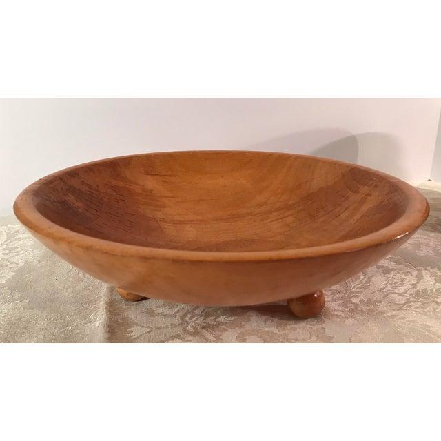 Mid-Century Modern Wooden Salad Bowls - Set of 7 - Image 9 of 11