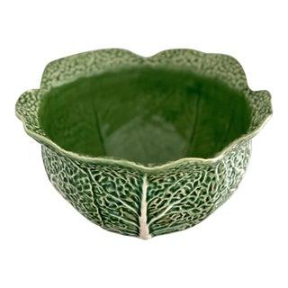 Vintage Bordallo Pinheiro Green Cabbage Leaf Bowl For Sale