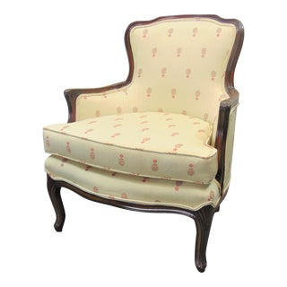 Louis XV Style Walnut Bergere Chair For Sale