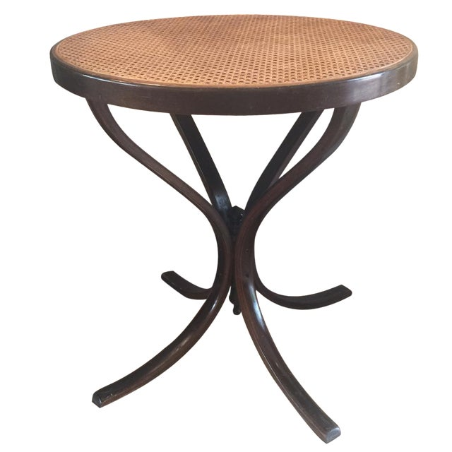 Vintage Bentwood Cane Top Table For Sale
