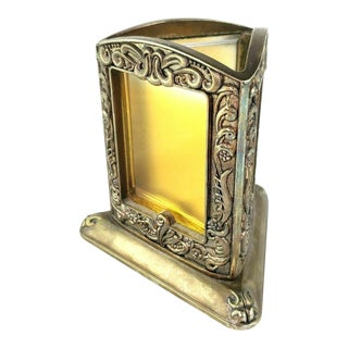 Godinger Silver Plate Triple Picture Frame Pen Holder For Sale