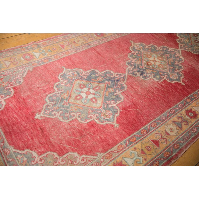 "Brick Red Vintage Distressed Oushak Rug Runner - 5' X 10'9"" For Sale - Image 8 of 12"