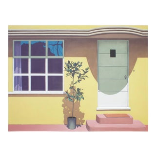 Acrylic Painting on Canvas of a House For Sale