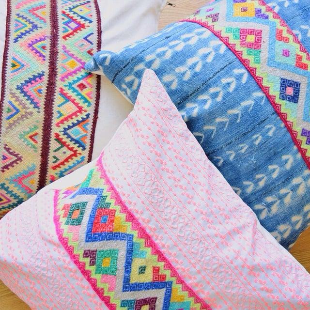 Pink Stitch & Peruvian Ribbon Pillow - Image 5 of 5