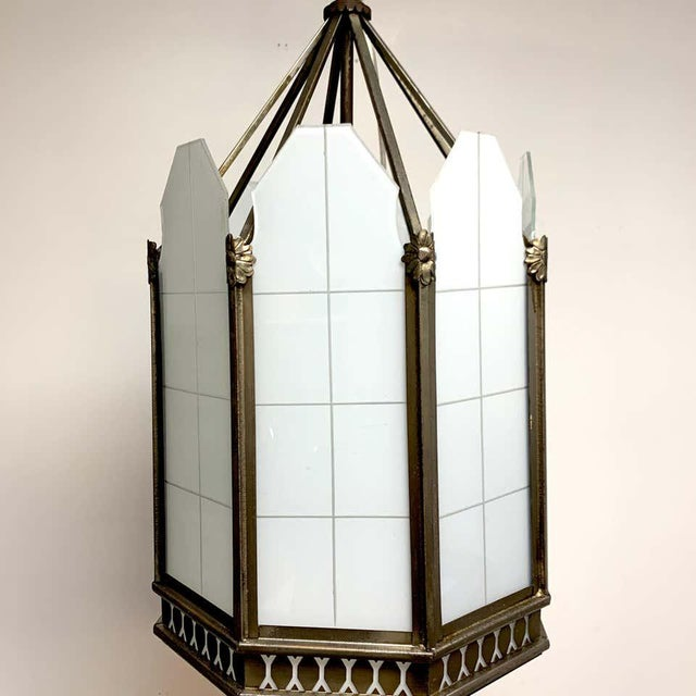 Art Deco Art Deco Octagon Lantern From the El Cid Theatre, Los Angles For Sale - Image 3 of 11