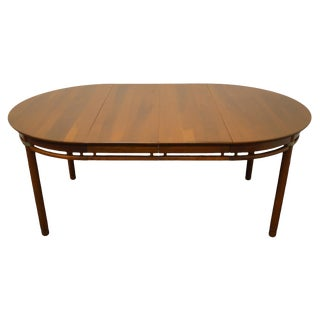 "Willett Furniture Solid Cherry Mid Century Modern 72"" Dining Table 78-930 For Sale"