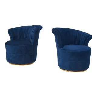 Art Deco Style Petite Lounge Chairs - A Pair