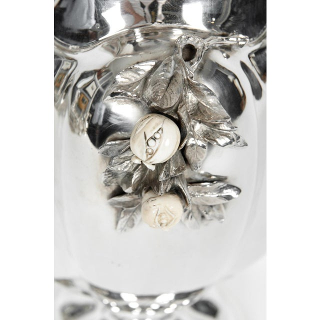 Large Antique Sterling Silver Centerpiece / Flower Vase For Sale - Image 4 of 13