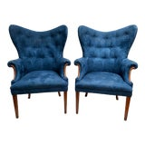 Image of Vintage Mid Century Butterfly Wing Back Chairs - a Pair For Sale