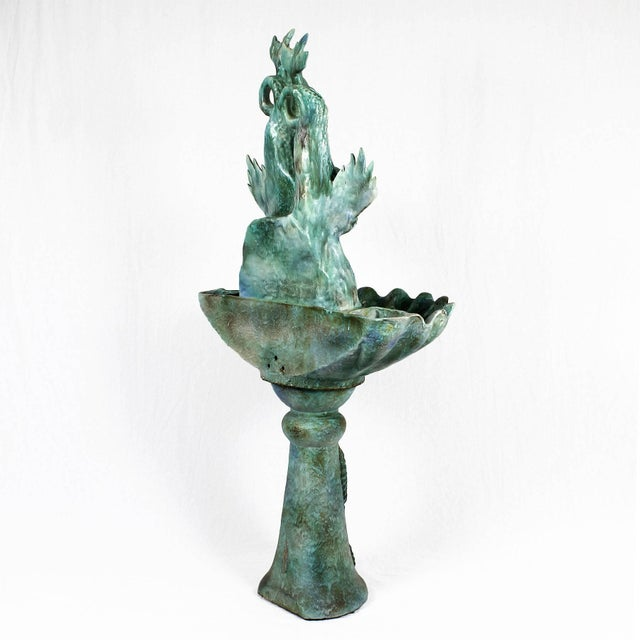 1940s 1940s Enameled Ceramic Wall Fountain, Les Fontaines de Provence, France For Sale - Image 5 of 13