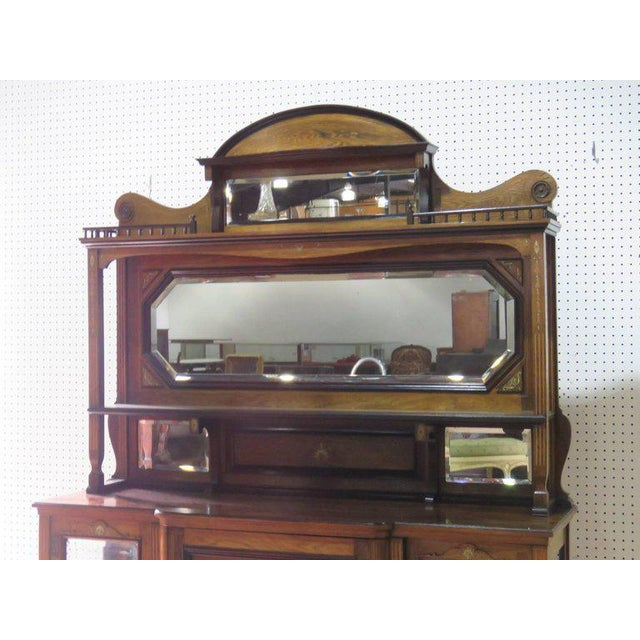 Edwardian Style Inlaid Sideboard With Superstructure For Sale - Image 9 of 12