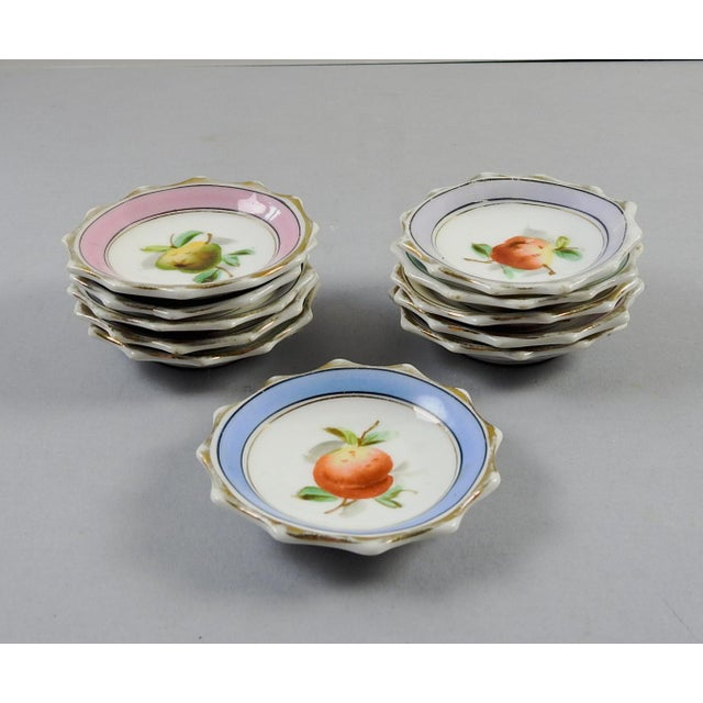 Porcelain Nut Candy Dishes Fruit Design - Set of 11 - Image 5 of 5