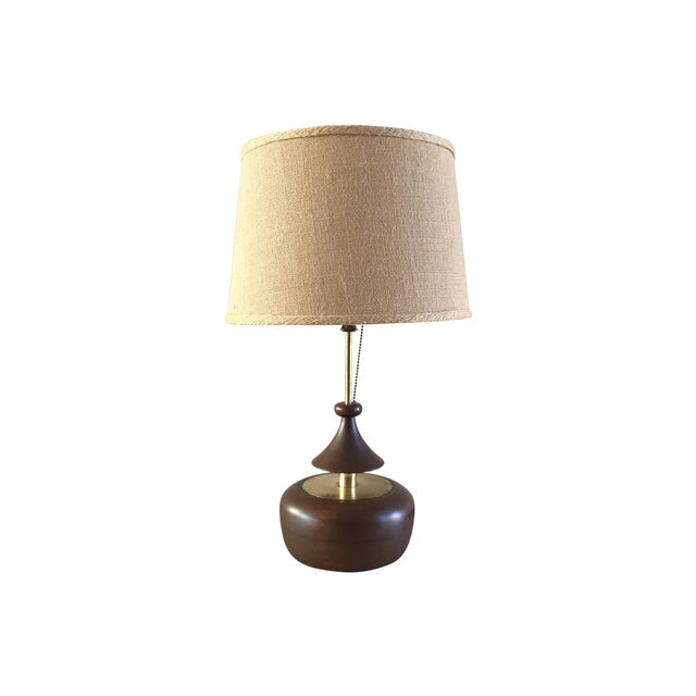 Vintage Laurel Walnut Teardrop Table Lamp - Image 1 of 7